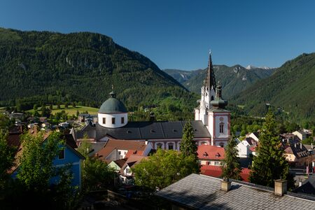 Basilica of the Birth of the Virgin Mary in Mariazell (Austria). This is the most important pilgrimage destination in Austria and one of the most visited shrines in Europe.