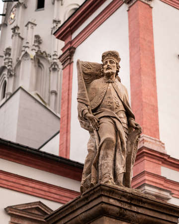 Statue in front of Basilica of the Birth of the Virgin Mary in Mariazell (Austria) Reklamní fotografie