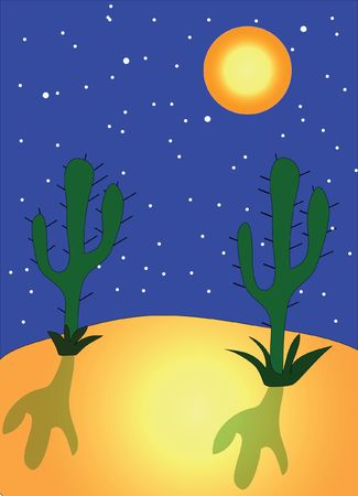 Night in desert Stock Photo - 7379004