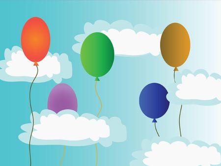 varicoloured: Bocetado bolas de aire en el cielo