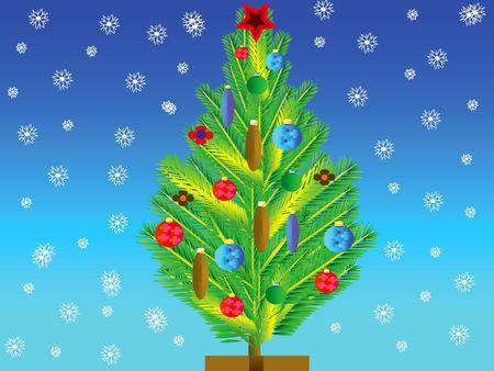 natty: Natty fir tree with toy on her Stock Photo