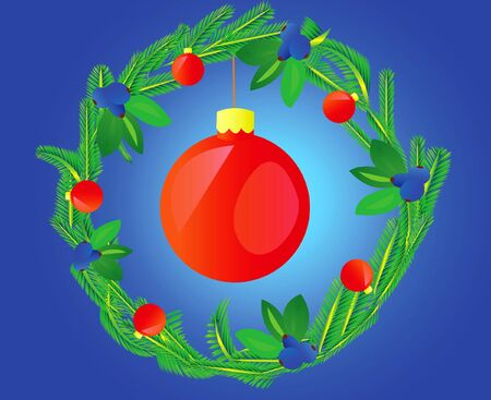 varicoloured: Wreath decorated varicoloured ball