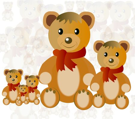 Nursery toy plush teddy bear Stock Photo