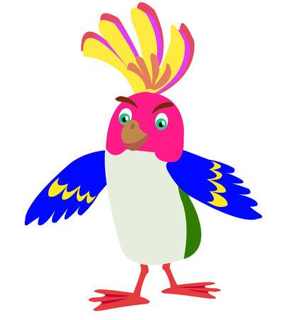 varicoloured: Beautiful varicoloured tropical parrot