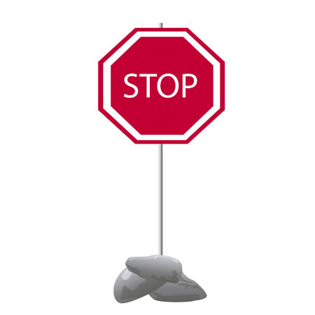 forbids: Red traffic sign of the foots on white