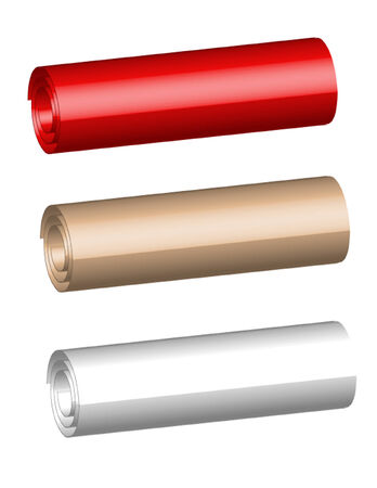Three paper rolls of the miscellaneous of the colour Vector Illustration