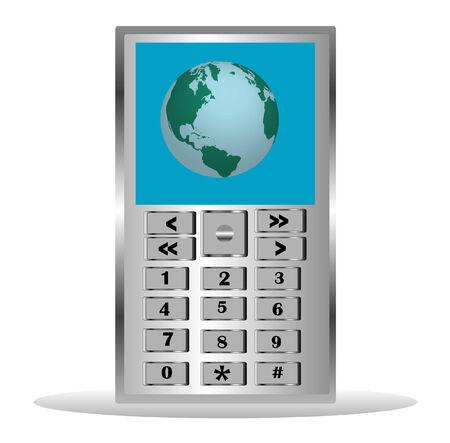 Mobile telephone on white background Stock Vector - 8330952