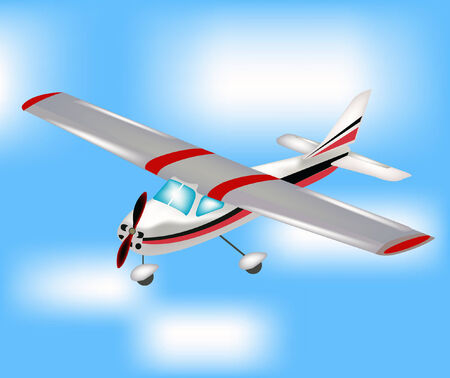 small plane: Glider flying to sky amongst cloud