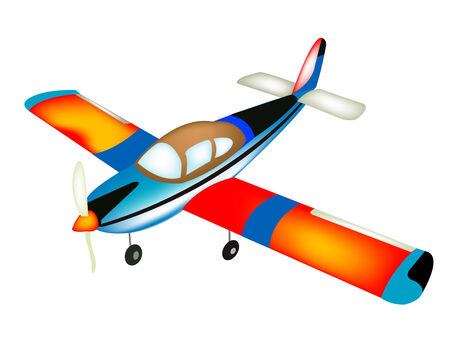 small plane: Small plane on white background