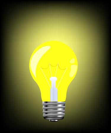 blazes: Luminous electric light bulb