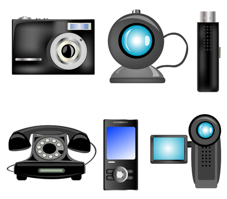 Electronic home appliances in assortment Stock Vector - 8615648