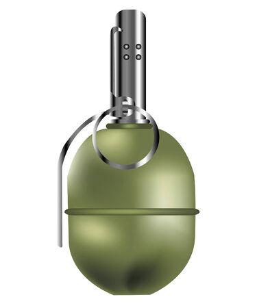 grenade: Fragmentation grenade against infantry of the enemy Illustration