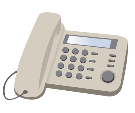 Home button telephone on white background