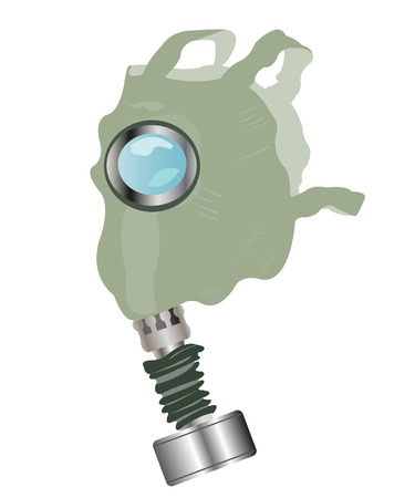 Means of protection gas mask on white background Vector