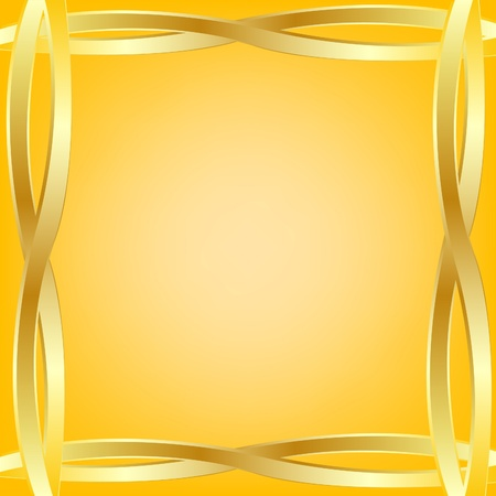Abstract background from gold figures on edge