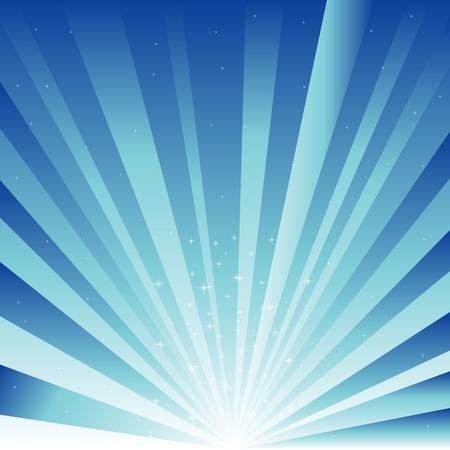 レイとアスタリスクの青色の背景色
