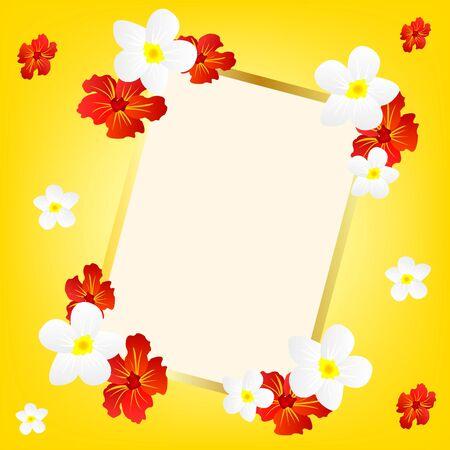 Decorative frame in framing flower Illustration