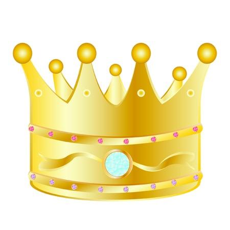 Gold corona with jewels