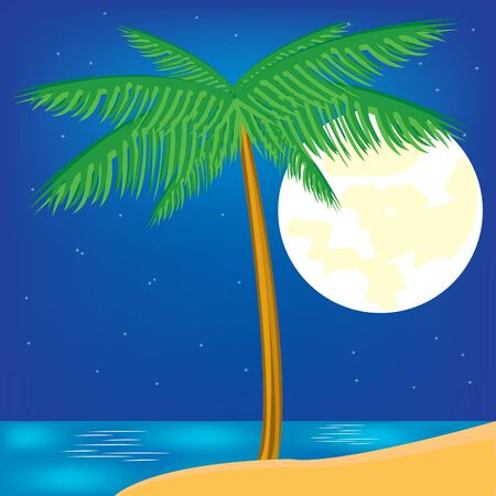 Palm on background epidemic deathes and moon photo