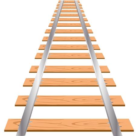 szynach: Ilustracja kolejowe na białym tle