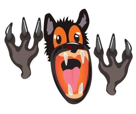 Cruel and terrible wolf from fairy tale Vector
