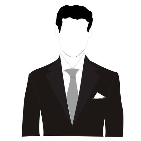 黒のスーツのシルエット男性