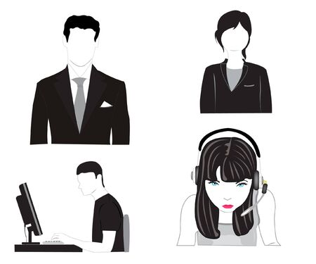 people on white background is insulated Stock Vector - 10356624