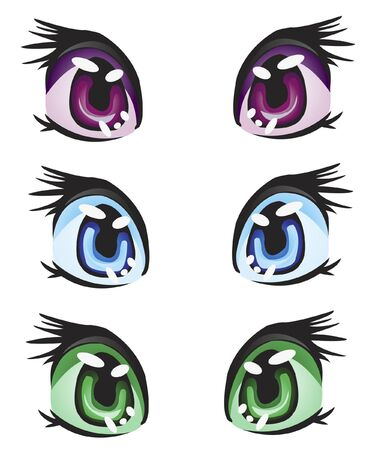Different colour of the eye on white background Stock Vector - 10684131