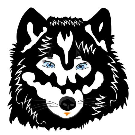 illustratie van de wolf op een witte achtergrond is geïsoleerd