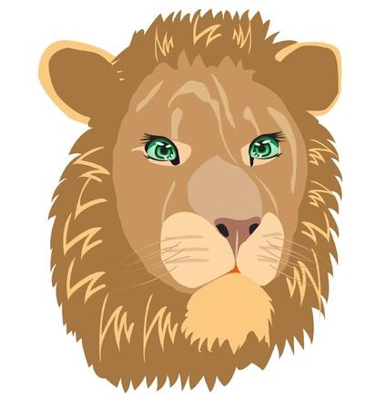 illustration animal lion on white background Illusztráció