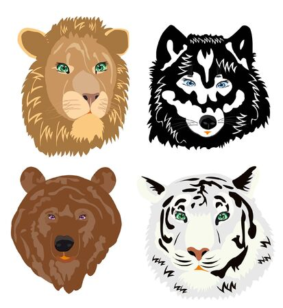 Drawing of the ravenous beasts on white background Stock Vector - 11205208