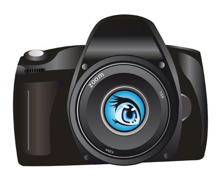 illustration of the digital camera Vector