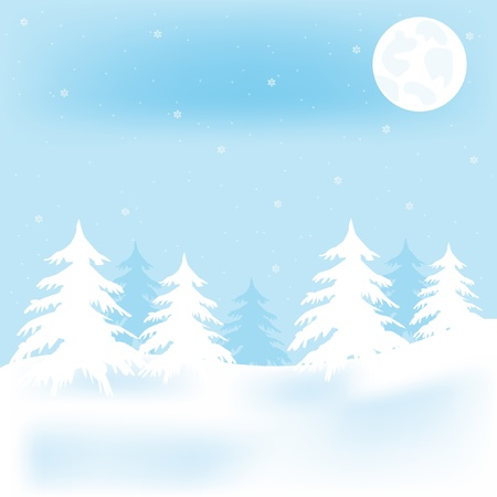 Illustration winter wood Stock Vector - 11663900