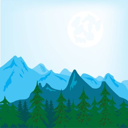 Vector illustration of the mountain landscape Stock Vector - 12215474