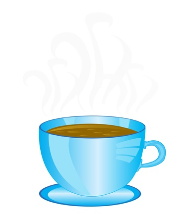 facilitator: Illustration of the cup aromatic coffee on white background Illustration