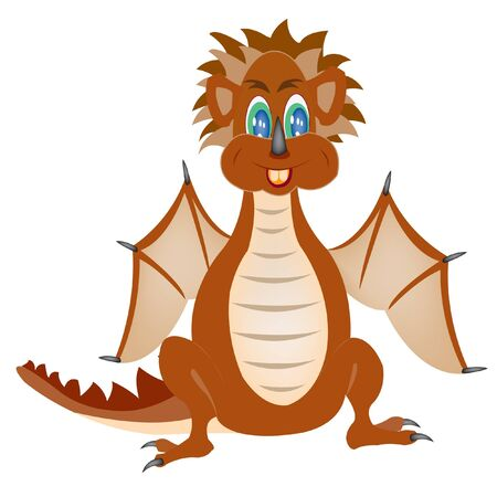 Illustration of the merry dragon on white background Stock Vector - 12486577