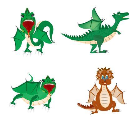 Illustration dragon on white background Stock Vector - 12905450