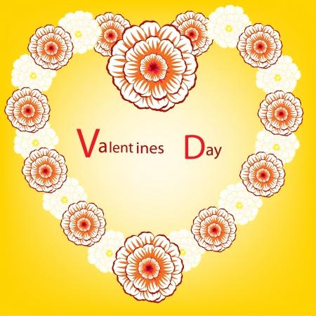 flowerses: The Illustration heart from flower.Gift on Valentinov day Illustration