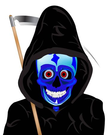 sidelong: Skeleton of the person with sidelong on white background Illustration