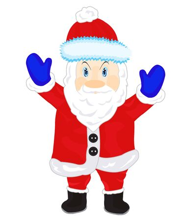 Illustration festive santa on white background is insulated Vector