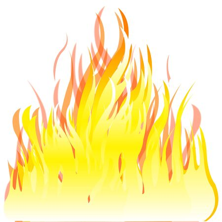 blazes: Illustration of the fire on white background