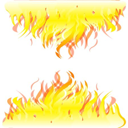 blazes: Colorful background from burning fire on white