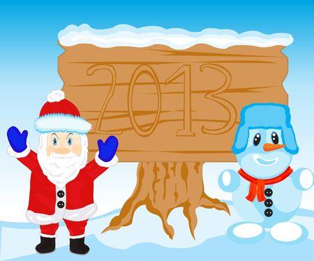 Illustration festive avec le père et par personne aveuglé par la neige