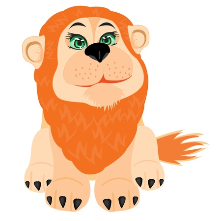 insulated: Drawing lion on white background is insulated Illustration