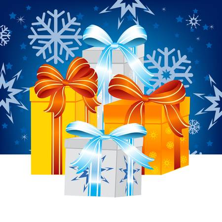 Festive gift for new year and Christmas Stock Vector - 16793166