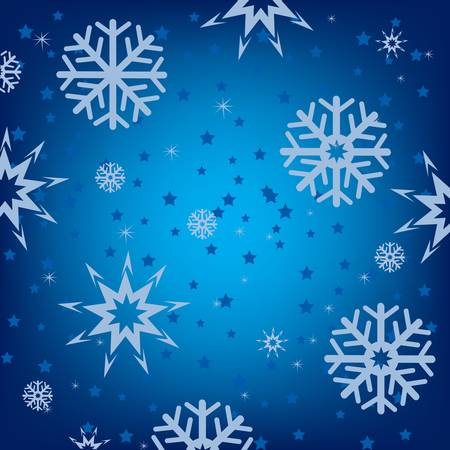 Festive snow background from snowflake and asterisk Stock Vector - 16793164