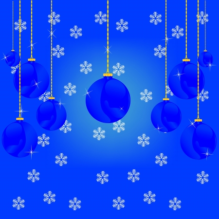 Festive decorative background from ball and snowflake Stock Vector - 16857229