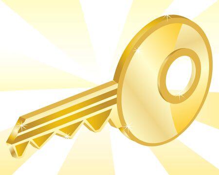 premises: Illustration of the key from gild