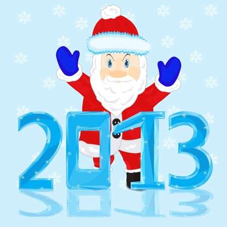 New year and santa  Stock Vector - 17035316