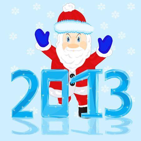 New year and santa Stock Vector - 17035316